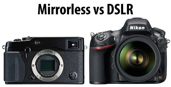 دوربین بدون آینه در مقابل DSLR