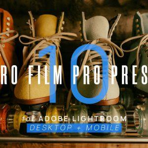 10 Retro Film VSCO Lightroom Presets Cover