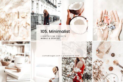105 Minimalist Lightroom Presets