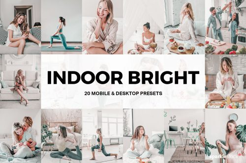 20 Indoor Bright Lightroom Presets Cover