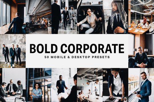 ۵۰ پریست پررنگ شرکتی و LUT ها