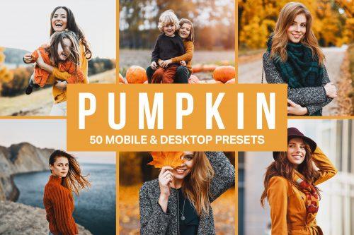 50 Pumpkin Orange Lightroom Presets Cover