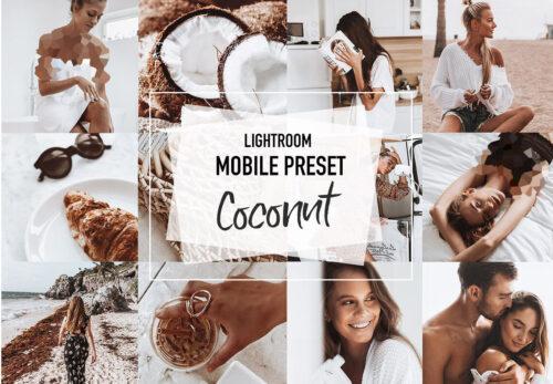 COCONUT 4 Lightroom mobile Presets