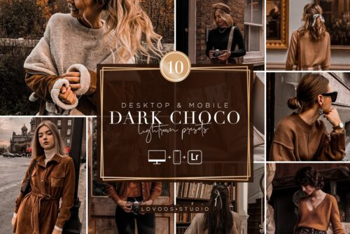 پریست های لایت روم مجموعه شکلات تیره