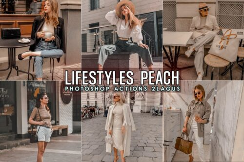 Lifestyles Peach Photoshop Actions