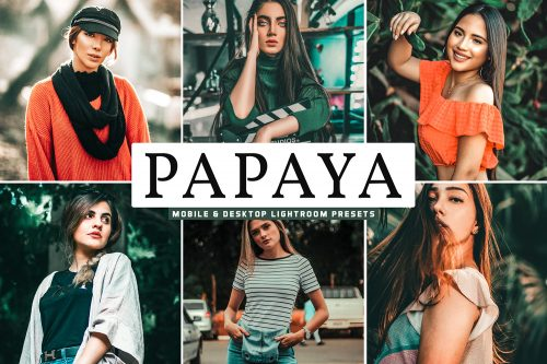 Papaya Mobile Desktop Lightroom Presets Cover