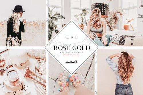 Rose gold lightroom preset