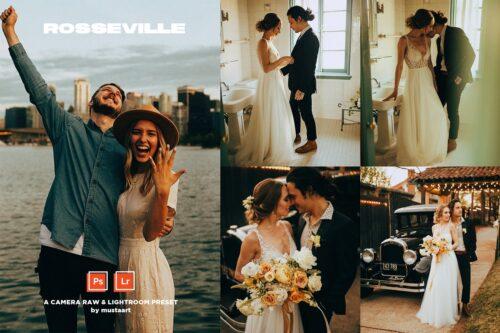 Rosseville Natural Light Wedding